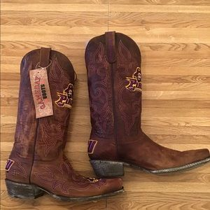East Carolina Pirates Leather Game Day Boots Sz 10